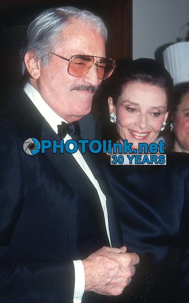 Gregory Peck and Audrey Hepburn 1989<br /> Photo By John Barrett/PHOTOlink