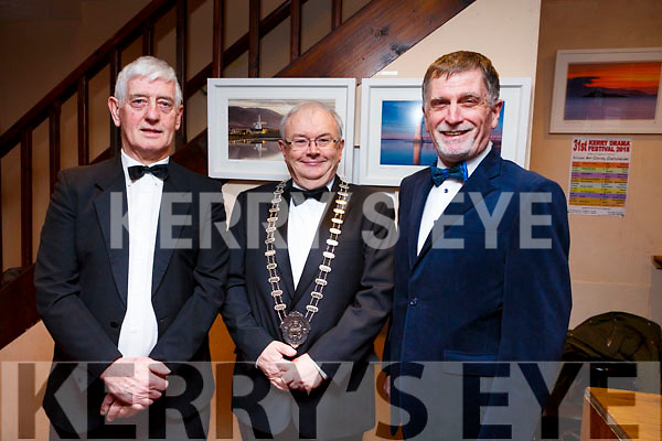 Kerry Film Festival Committee at the opening night of the Kerry Drama Festival in the Ivy Leaf in Castleisland on Sunday night. L-r Jerome Stack (Chairman of the Kerry Drama Festival), Aidan Reidy (Chairman of ADCI) and Walker Ewart (ADCI Adjudicator).