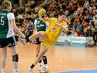 Anne Müller (HCL) wirft, zieht ab
