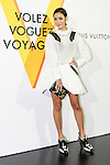 Taiwanese socialite Aimee Sun poses for the cameras during the opening celebration for Louis Vuitton's ''Volez, Voguez, Voyagez'' exhibition on April 21, 2016, Tokyo, Japan. After a successful run in Paris, the luxury fashion brand now brings the instalment to Tokyo, which traces Louis Vuitton's history from 1854 to today. Some 1,000 objects, including rare trunks, photographs and handwritten client cards will be displayed. Japanese room will be set up specially for Japan, showcasing such rare items as makeup and tea ceremony trunks for kabuki actor Ebizo XI. The exhibition will be open to the public free of charge from April 23 to June 19. (Photo by Rodrigo Reyes Marin/AFLO)