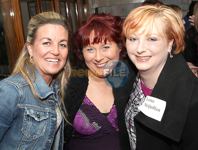 At the Greenhills class of 92 reunion were Eileen Henry, Geraldine Mallon and Lorna McQuillan..Picture  www.newsfile.ie..