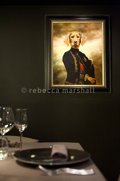 A painting on the wall of the new gastronomic restaurant at Rue le Bec, Lyon, France, 14 January 2012.