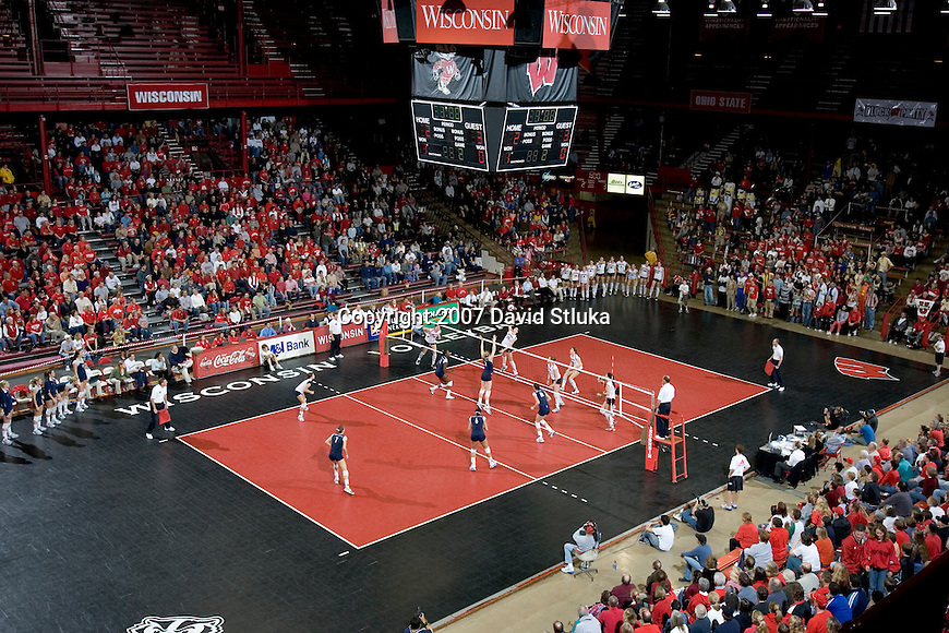 MADISON, WI - OCTOBER 27: A general view of the Field House during the Wisconsin Badgers volleyball team against the Penn State Nittany Lions on October 27, 2006 in Madison, Wisconsin. (Photo by David Stluka)