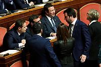 Matteo Salvini <br /> Roma 23/03/2018. Prima seduta al Senato dopo le elezioni.<br /> Rome March 23rd 2018. Senate. First sitting at the Senate after elections.<br /> Foto Samantha Zucchi Insidefoto