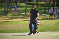 Phil Mickelson (USA) breathes a sigh of relief after sinking a long par putt on 7 during round 1 of the World Golf Championships, Dell Match Play, Austin Country Club, Austin, Texas. 3/21/2018.<br /> Picture: Golffile | Ken Murray<br /> <br /> <br /> All photo usage must carry mandatory copyright credit (&copy; Golffile | Ken Murray)