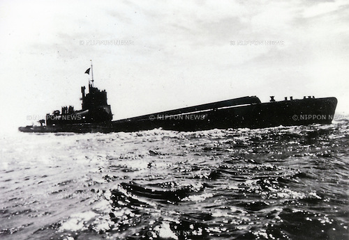 Undated - I-400 class submarine. submarines of the Imperial Japanese Navy were the largest submarines of World War II, and remained the largest ever built prior to the development of nuclear ballistic missile submarines in the 1960s. They were submarine aircraft carriers able to carry 3 Aichi M6A Seiran aircraft underwater to their destinations. They were designed to surface, launch the planes then dive again quickly before they were discovered. They also carried torpedoes for close range combat. (Photo by Kingendai Photo Library/AFLO)