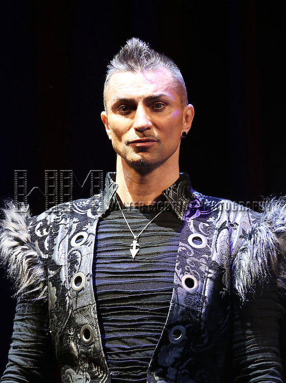 Aaron Crow performing in a press preview of 'The Illusionists' at Mariott Marquis Theatre on December 2, 2014 in New York City.