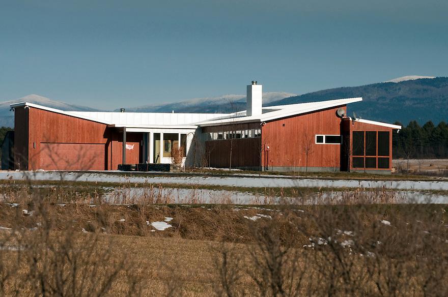 Gregory La Vardera designed house, Vermont