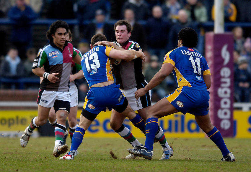 Photo: Jed Wee..Leeds Rhinos v Harlequins Rugby League. Pre Season Friendly. 29/01/2006. ..Daniel Heckenberg.