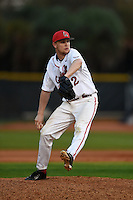 Ball State Cardinals pitcher David Current (32) during a game against the Maine Black Bears on March 3, 2015 at North Charlotte Regional Park in Port Charlotte, Florida.  Ball State defeated Maine 8-7.  (Mike Janes/Four Seam Images)