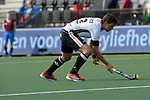 NED - Amsterdam, Netherlands, August 20: During the men Pool B group match between Germany (white) and Ireland (green) at the Rabo EuroHockey Championships 2017 August 20, 2017 at Wagener Stadium in Amsterdam, Netherlands. Final score 1-1. (Photo by Dirk Markgraf / www.265-images.com) *** Local caption *** Tobias Hauke #13 of Germany