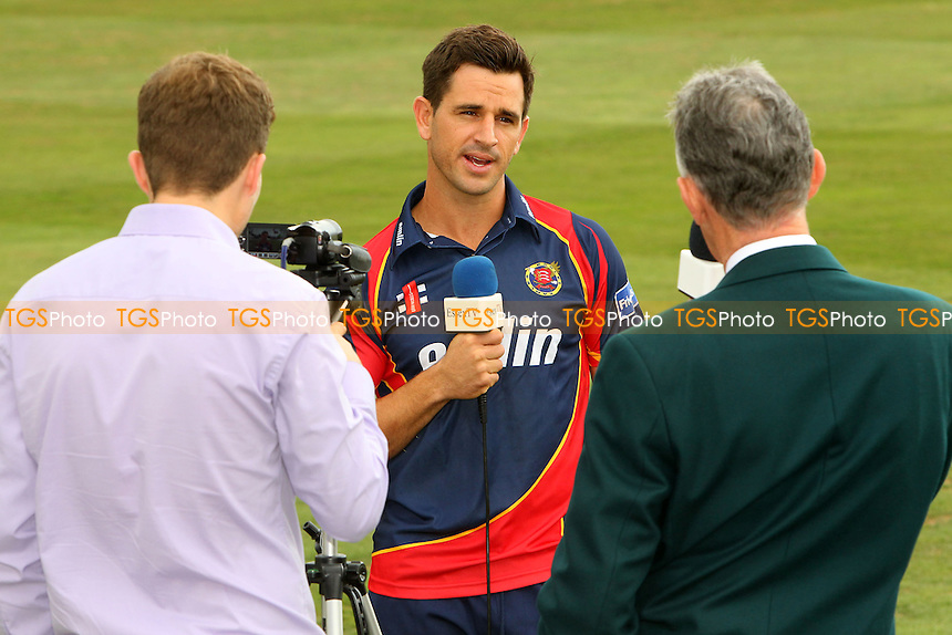 Ryan ten Doeschate of Essex Eagles speaks to the media ahead of the team travelling to Edgbaston - Essex Eagles Friends Life T20 Finals Day Press Event at the Essex County Ground, Chelmsford - 15/08/13 - MANDATORY CREDIT: Gavin Ellis/TGSPHOTO - Self billing applies where appropriate - 0845 094 6026 - contact@tgsphoto.co.uk - NO UNPAID USE