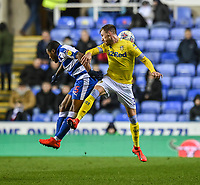 Leeds United's Barry Douglas (right) battles with Reading's Callum Harriott<br /> <br /> Photographer David Horton/CameraSport<br /> <br /> The EFL Sky Bet Championship - Reading v Leeds United - Tuesday 12th March 2019 - Madejski Stadium - Reading<br /> <br /> World Copyright &copy; 2019 CameraSport. All rights reserved. 43 Linden Ave. Countesthorpe. Leicester. England. LE8 5PG - Tel: +44 (0) 116 277 4147 - admin@camerasport.com - www.camerasport.com
