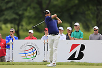 Adam Scott (AUS) tees off the 3rd tee during Sunday's Final Round of the WGC Bridgestone Invitational 2017 held at Firestone Country Club, Akron, USA. 6th August 2017.<br /> Picture: Eoin Clarke | Golffile<br /> <br /> <br /> All photos usage must carry mandatory copyright credit (&copy; Golffile | Eoin Clarke)
