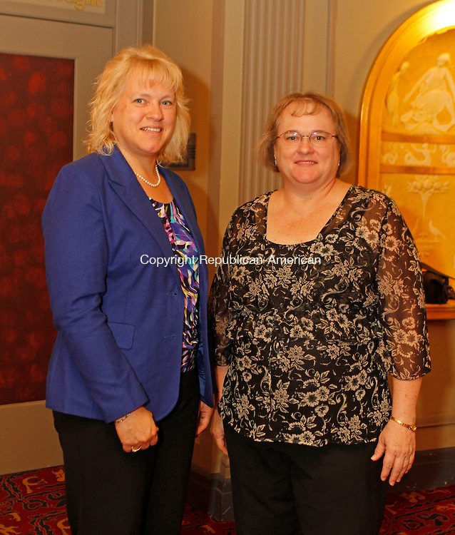 Waterbury, CT092014MK06 (from left)  Ginger Fennell and Janine Lempkegathered recently to celebrate Headlines and Headliners, a musical revue in celebration of the Palace Theater's tenth anniversary season and long-time media partner WATR Radio 1320AM's eightieth anniversary on the air,. Michael Kabelka / Republican-American