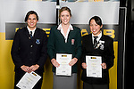 Girls Swimming finalists Grace Marriner-Duncan, Jessie Blundell & Carmen Ooi. . ASB College Sport Young Sportperson of the Year Awards 2008 held at Eden Park, Auckland, on Thursday November 13th, 2008.