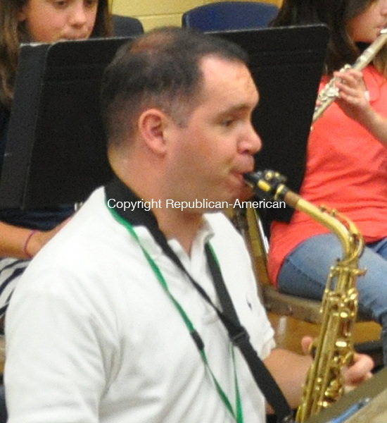 KENT, CT – 20 June 2014 - 062014LMW02 – Instrumental music teacher David Poirier will be full-time next year at Kent Center School. Lynn Mellis Worthington Republican-American