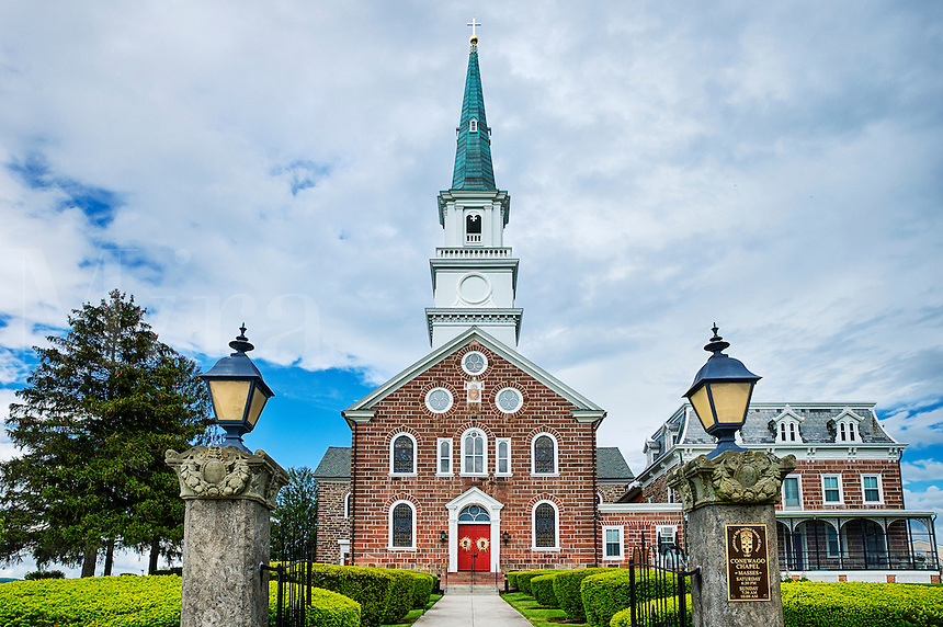 Conewego Chapel, oldest Roman Catholic stone church in the United States, Pennsylvania, USA