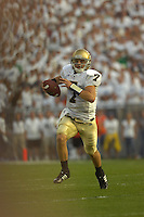 08 September 2007:  Notre Dame QB Jimmy Clausen (7)..The Penn State Nittany Lions defeated the Notre Dame Fighting Irish 31-10 September 8, 2007 at Beaver Stadium in State College, PA..
