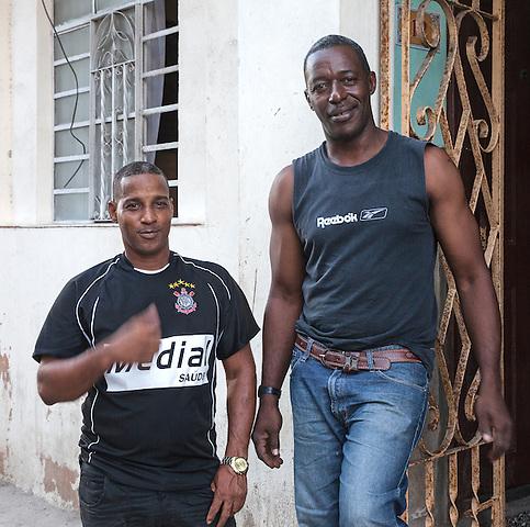 Soccer fans, Centro Habana