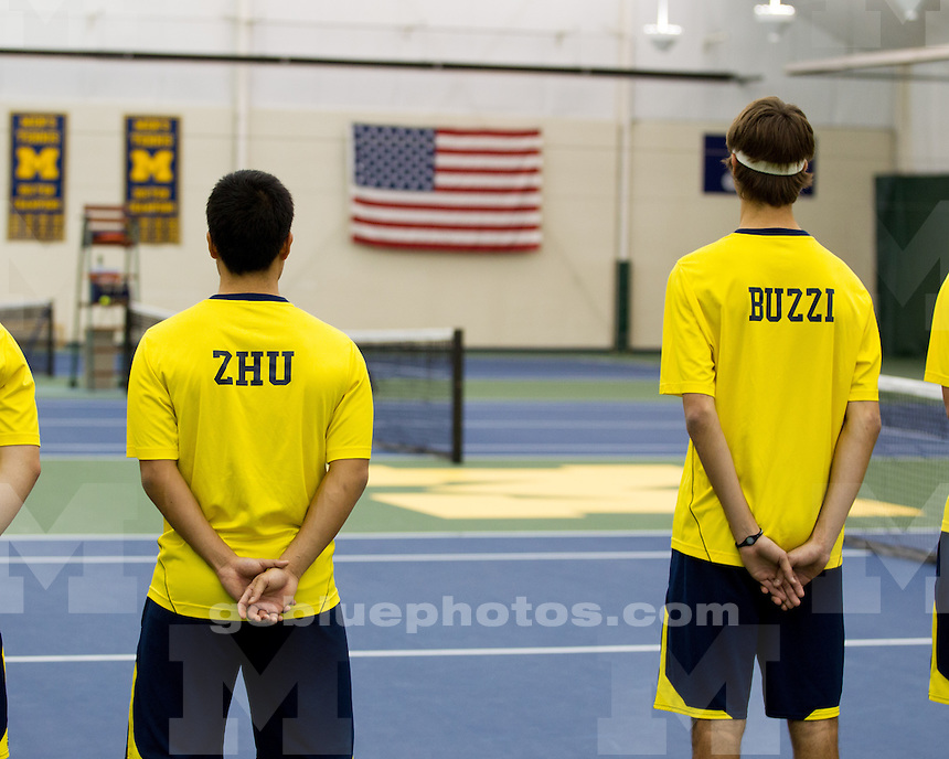 The University of Michigan men's tennis team fell to No. 19 Tulsa, 5-2, at the Varsity Tennis Center in Ann Arbor, Mich., on February 27, 2013.