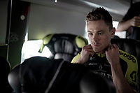 Michael Hepburn (AUS/Mitchelton-Scott) getting ready on the teambus<br /> <br /> Stage 5: Saint-Dié-des-Vosges to Colmar (175km)<br /> 106th Tour de France 2019 (2.UWT)<br /> <br /> ©kramon