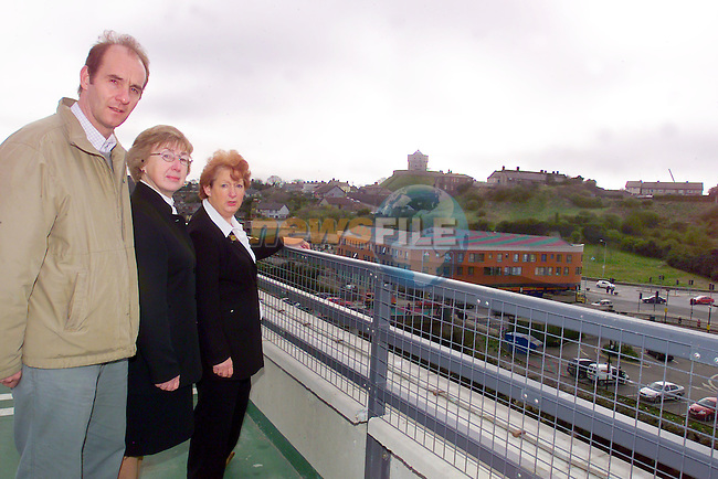 Tom Reilly, Mary Malone and Deirdre Howard Russell, looking out at Millmount and the buttergate area.Photo Fran Caffrey/Newsfile.ie..This picture has been sent to you by:.Newsfile Ltd,.3 The View,.Millmount Abbey,.Drogheda,.Co Meath..Ireland..Tel: +353-41-9871240.Fax: +353-41-9871260.GSM: +353-86-2500958.ISDN: +353-41-9871010.IP: 193.120.102.198.www.newsfile.ie..email: pictures@newsfile.ie..This picture has been sent by Fran Caffrey.francaffrey@newsfile.ie