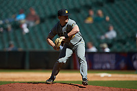 Missouri Tigers relief pitcher Shane Wilhelm (29) in action against the Baylor Bears in game one of the 2020 Shriners Hospitals for Children College Classic at Minute Maid Park on February 28, 2020 in Houston, Texas. The Bears defeated the Tigers 4-2. (Brian Westerholt/Four Seam Images)