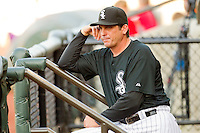 Chicago White Sox roving hitting coach Jeff Manto watches the Carolina League game between the Wilmington Blue Rocks and the Winston-Salem Dash at BB&T Ballpark on April 23, 2011 in Winston-Salem, North Carolina.   Photo by Brian Westerholt / Four Seam Images