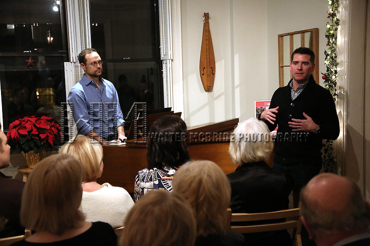Matthew Sklar and Chad Beguelin attends the Dramatists Guild Fund Salon with Matthew Sklar and Chad Beguelin at the home of Gretchen Cryer on December 8, 2016 in New York City.