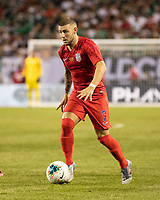 CHICAGO, IL - JULY 7: Paul Arriola #7 during a game between Mexico and USMNT at Soldier Field on July 7, 2019 in Chicago, Illinois.