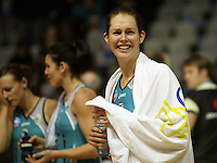 Thunderbirds goalshoot Kate Beveridge after the win during the ANZ Netball Championship match between the Waikato Bay of Plenty Magic and Adelaide Thunderbirds, Mystery Creek Events Centre, Hamilton, New Zealand on Sunday 19 July 2009. Photo: Dave Lintott / lintottphoto.co.nz