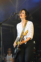 LONDON, ENGLAND - JUNE 30: Brody Dalle performing at Finsbury Park on June 30, 2018 in London, England.<br /> CAP/MAR<br /> &copy;MAR/Capital Pictures