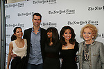 Rebecca Budig - Cameron Mathison - Debbi Morgan - Susan Lucci - Agnes Nixon - All My Children at 40 celebrate on January 10, 2010 at the New York Times Arts & Leisure Weekend at the TimesCenter Stage, New York City, New York. (Photo by Sue Coflin/Max Photos)