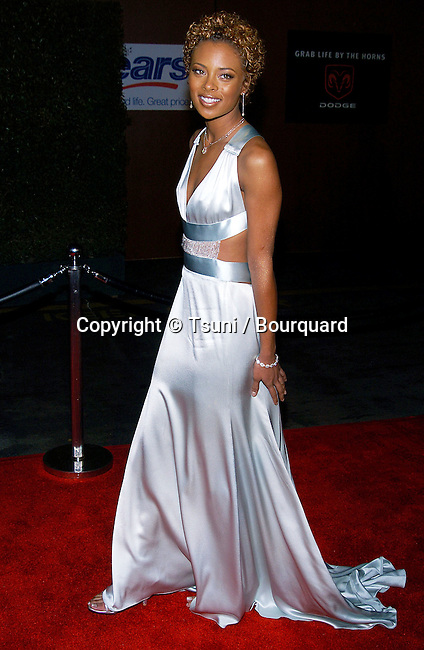 Eva  arriving at the Nineteetn Annual Soul Train Music Awards on The Paramount Lot in Los Angeles. February 28, 2005.