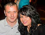 Attending Mark Fitzpatrick's 21st in the Star and Crescent were Mark McKeown and Sarah Brady..Picture: Shane Maguire / www.newsfile.ie.
