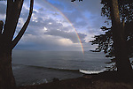 rainbow over Pacific Ocean in Santa Cruz, CA