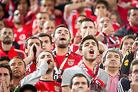 The supporter of Benfica after lost a penalty during the UEFA Europa League Final between Sevilla FC and SL Benfica at Juventus Arena on May 14, 2014 in Turin, Italy. Photo: Adamo Di Loreto/BuenaVista*photo