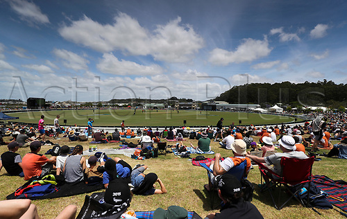 20th December, 2017, Whangarei, New Zealand;  Fans. New Zealand Black Caps versus West Indies, first One Day International cricket, Cobham Oval, Whangarei, New Zealand. Wednesday, 20 December, 2017.