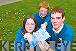 SPEAKING GREEK: Grace OReilly, Cian Lynch and Fearghal Fitzgibbon from Mounthawk took part in a mock European Council in the Mansion House in Dublin last Thursday. .