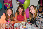 Hannah Quirke, Emma Quirke and Fiona Quirke enjoying Aine's Cafe in the Square 10th Birthday celebrations on Saturday