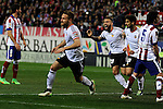 Valencia CF´s Shkodran Mustafi celebrates a goal during 2014-15 La Liga match between Atletico de Madrid and Valencia CF at Vicente Calderon stadium in Madrid, Spain. March 08, 2015. (ALTERPHOTOS/Luis Fernandez)