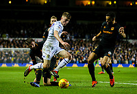 Leeds United's Jack Clarke takes on Hull City's Kevin Stewart<br /> <br /> Photographer Alex Dodd/CameraSport<br /> <br /> The EFL Sky Bet Championship - Leeds United v Hull City - Saturday 29th December 2018 - Elland Road - Leeds<br /> <br /> World Copyright © 2018 CameraSport. All rights reserved. 43 Linden Ave. Countesthorpe. Leicester. England. LE8 5PG - Tel: +44 (0) 116 277 4147 - admin@camerasport.com - www.camerasport.com