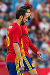 Spain's Juanfran Torres and Gererd Pique during the up match between Spain and Georgia before the Uefa Euro 2016.  Jun 07,2016. (ALTERPHOTOS/Rodrigo Jimenez)