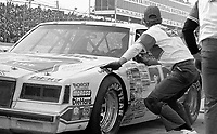 Atlanta Journal 500 at Atlanta International Raceway in Hampton, GA on November 6, 1983. (Photo by Brian Cleary/www.bcpix.com)  Atlanta Journal 500, Atlanta Motor Speedway, Hampton, Georgia, November 6, 1983.  (Photo by Brian Cleary/www.bcpix.com)  Bobby Allison makes a pit stop in the #22 Miller Buick en route to a third place finish, Atlanta Journal 500 at Atlanta International Raceway in Hampton, GA Bobby Allison makes a pit on November 6, 1983. (Photo by Brian Cleary/www.bcpix.com)