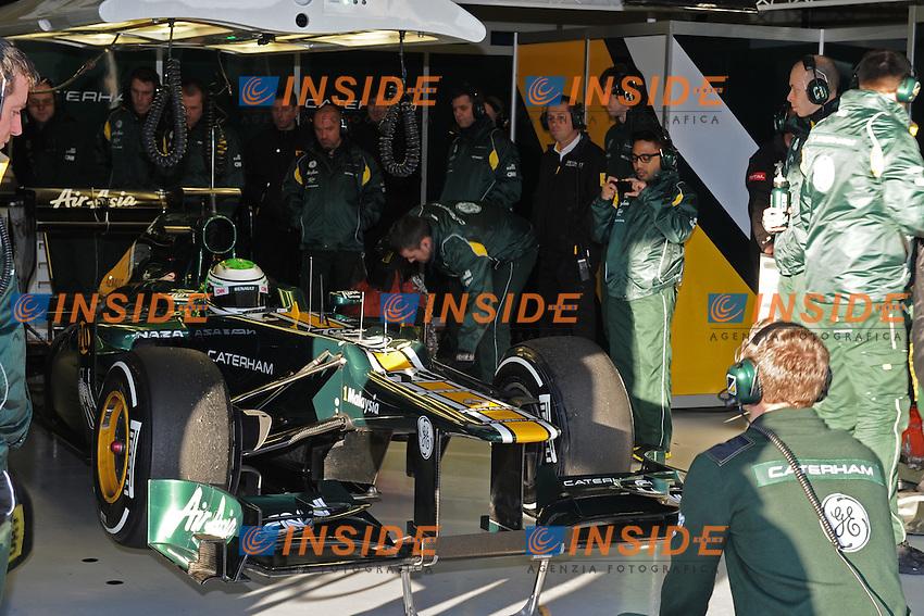 HEIKKI KOVALAINEN (FIN) - TEAM CATERHAM.Formula 1: Test Jerez 08/02/2012.Foto Insidefoto / Gilles Levent / PanoramiC.ITALY ONLY
