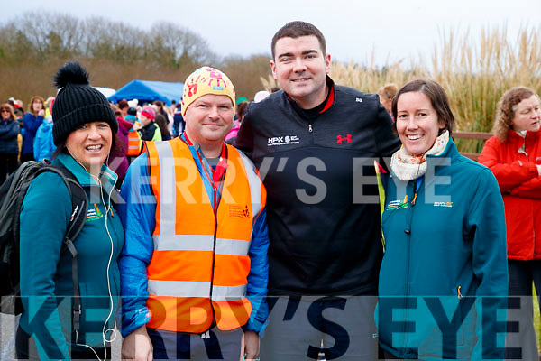 Cora Carrig (Tralee Sports Partnership) Wayne Doyle (Killorglin) Minister Brendan Griffin (Keel) and Askea Calnan, pictured at the Operation Transformation Walk at Tralee Bay Wetlands on Saturday morning last.