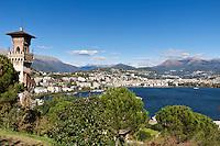 Switzerland, Ticino, view from Paradiso at Lugano | Schweiz, Tessin, Blick von Paradiso auf Lugano