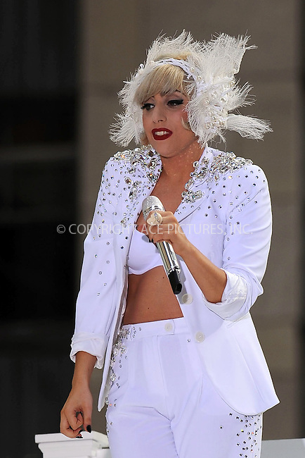 WWW.ACEPIXS.COM . . . . . ....July 9 2010, New York City....Lady Gaga performed live at NBC's Today show at the Rockerfeller Plaza on July 9 2010 in New York City....Please byline: KRISTIN CALLAHAN - ACEPIXS.COM.. . . . . . ..Ace Pictures, Inc:  ..(212) 243-8787 or (646) 679 0430..e-mail: picturedesk@acepixs.com..web: http://www.acepixs.com