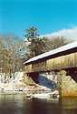 New Hampshire has numerous covered bridges which are natural magnets for photographers to point their lenses at. This winter image of the Blair Covered Bridge was taken before it suffered significant damage during hurricane Irene.